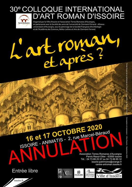 Annulation du 30e Colloque international d'art roman.